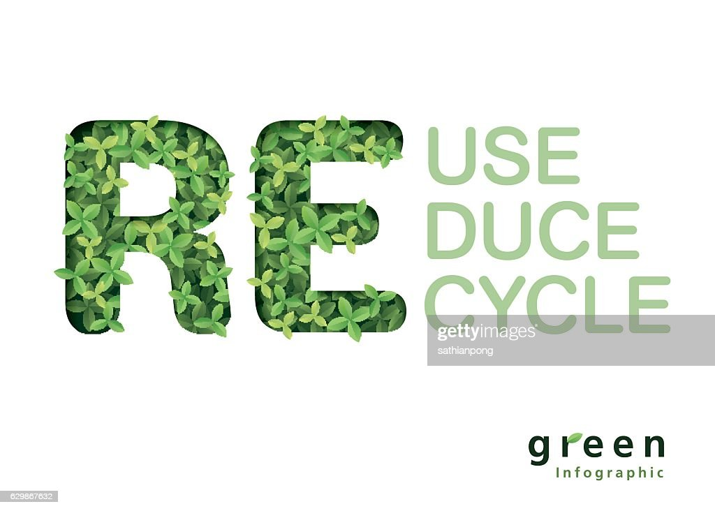 green and Ecology Info-graphic and environment