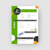 Green and grey, Corporate invoice or estimate template.