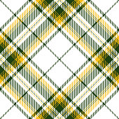 Green And Yellow Scottish Tartan Plaid Textile Pattern