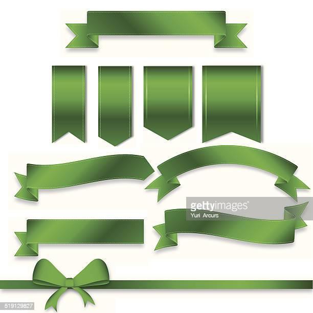 green anyone? - embellishment stock illustrations