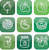 Green apple icons