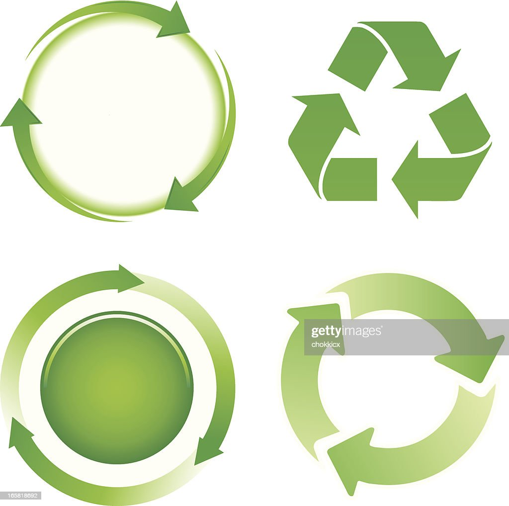 green arrows cycle icons