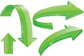 Green arrows. Web shiny icons