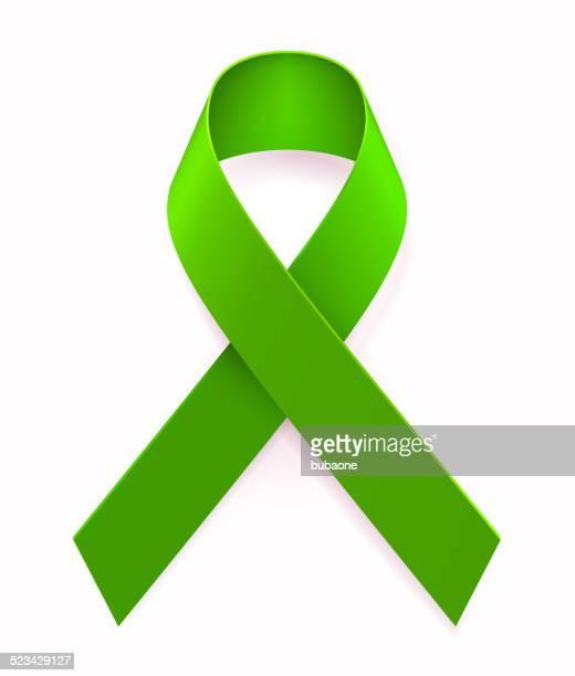green awareness ribbon - environmental conservation stock illustrations