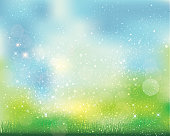 green background of sparkles