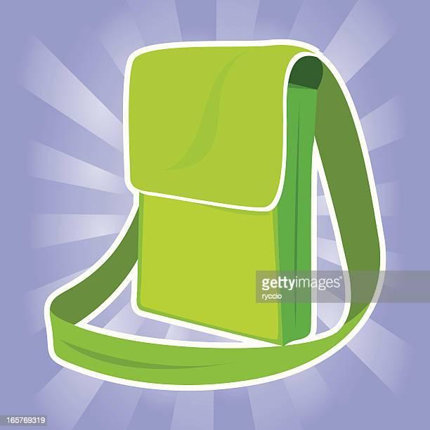 green bag - sac stock illustrations, clip art, cartoons, & icons