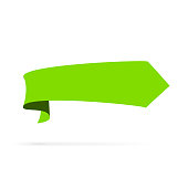 green banner speech bubble style isolated
