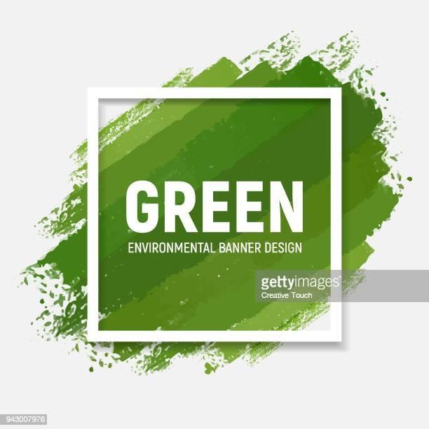 green banner - grass stock illustrations, clip art, cartoons, & icons