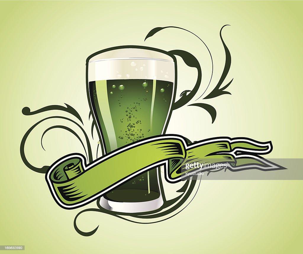 Green beer : stock illustration