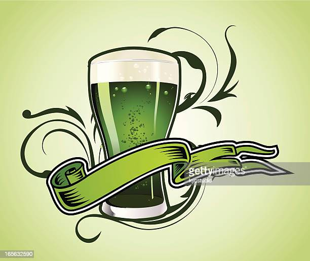 green beer - lager stock illustrations, clip art, cartoons, & icons