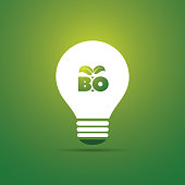 Green Bio Energy Concept Design - Shiny Light Bulb
