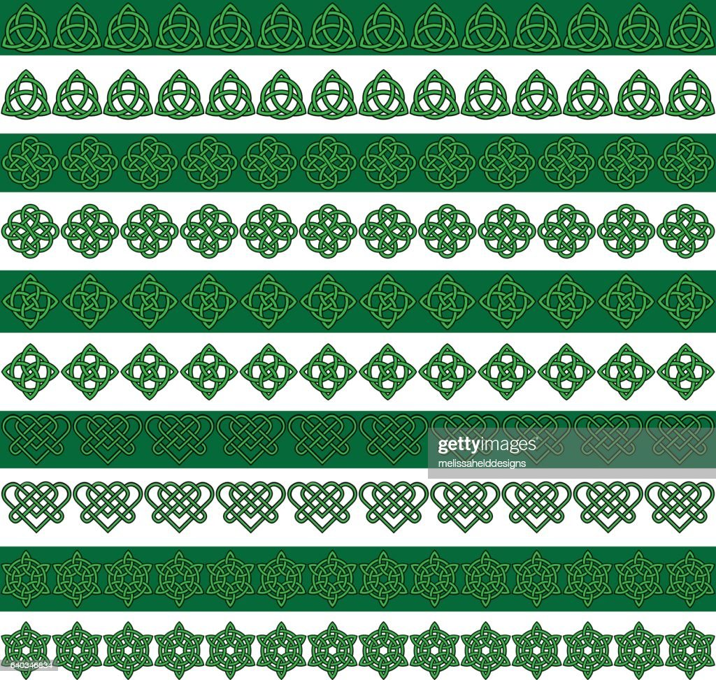 green black celtic border patterns
