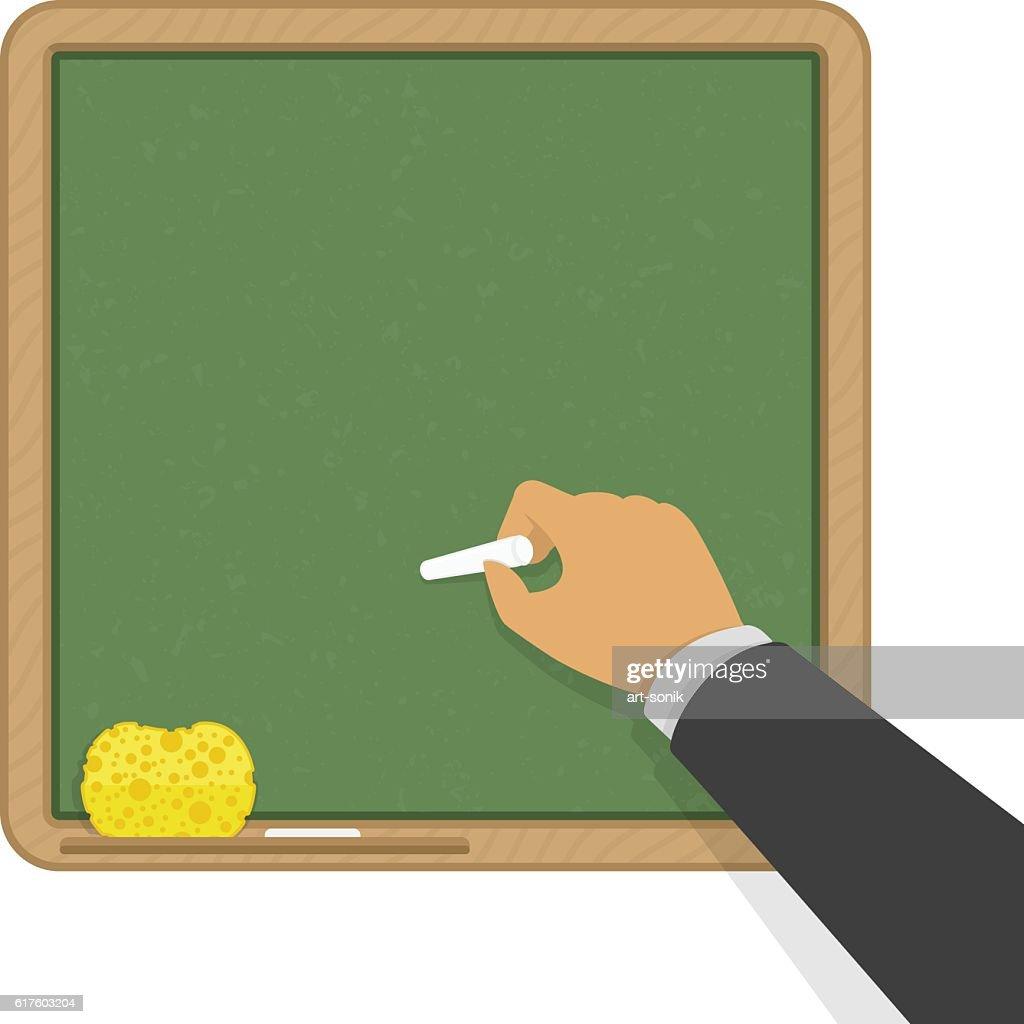 Green blank classic school board.