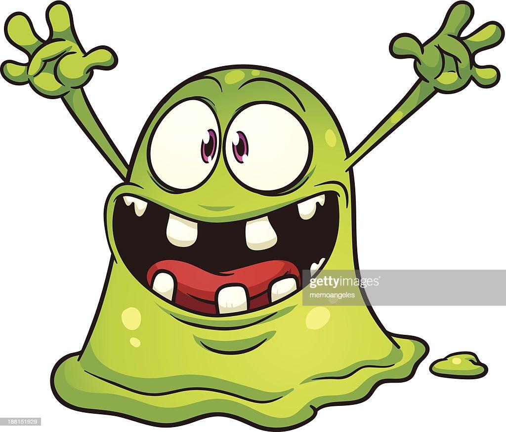 Green blob monster