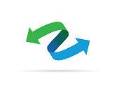 Green blue arrow icon