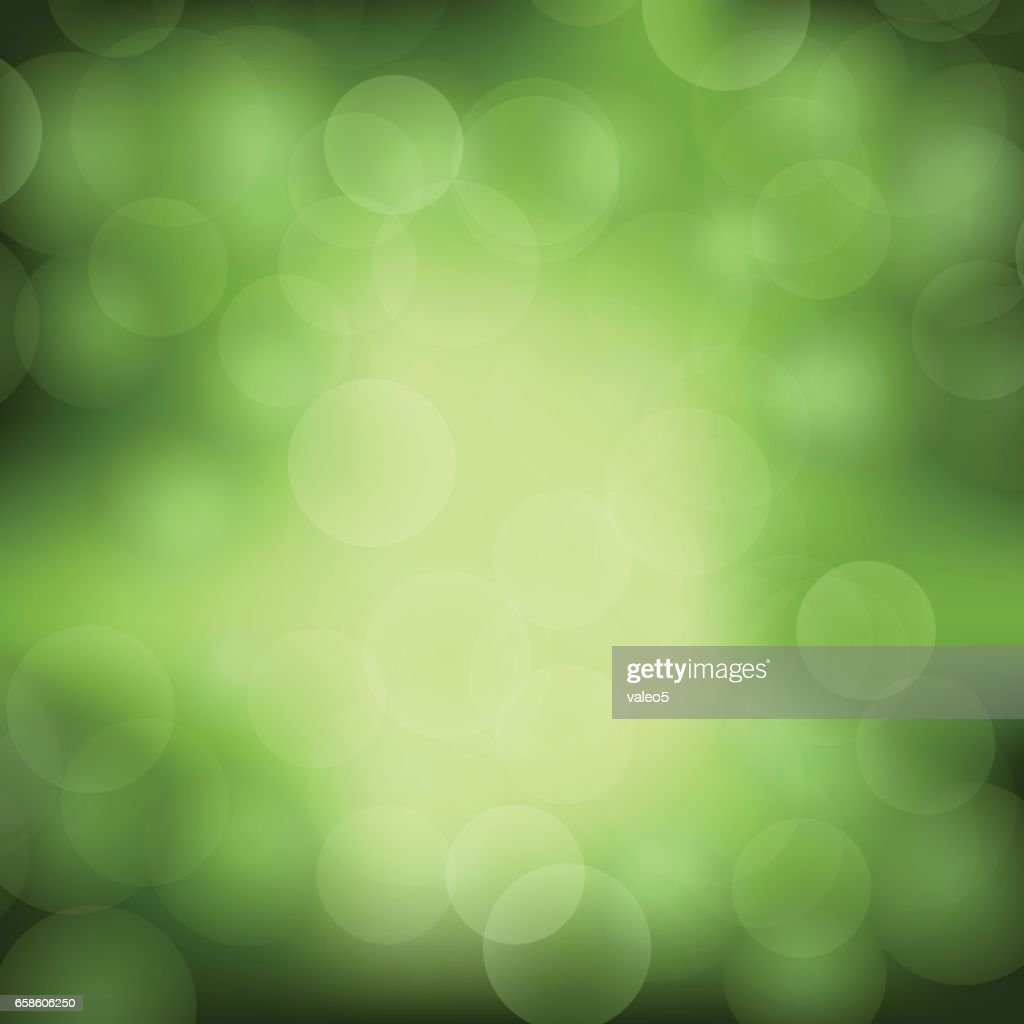 Green Blurred Light Background