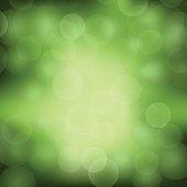 Green Blurred Light Background