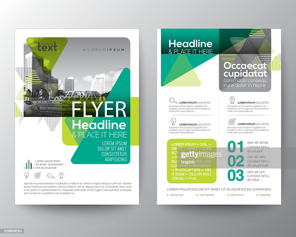 Green Brochure cover Flyer Poster design Layout template