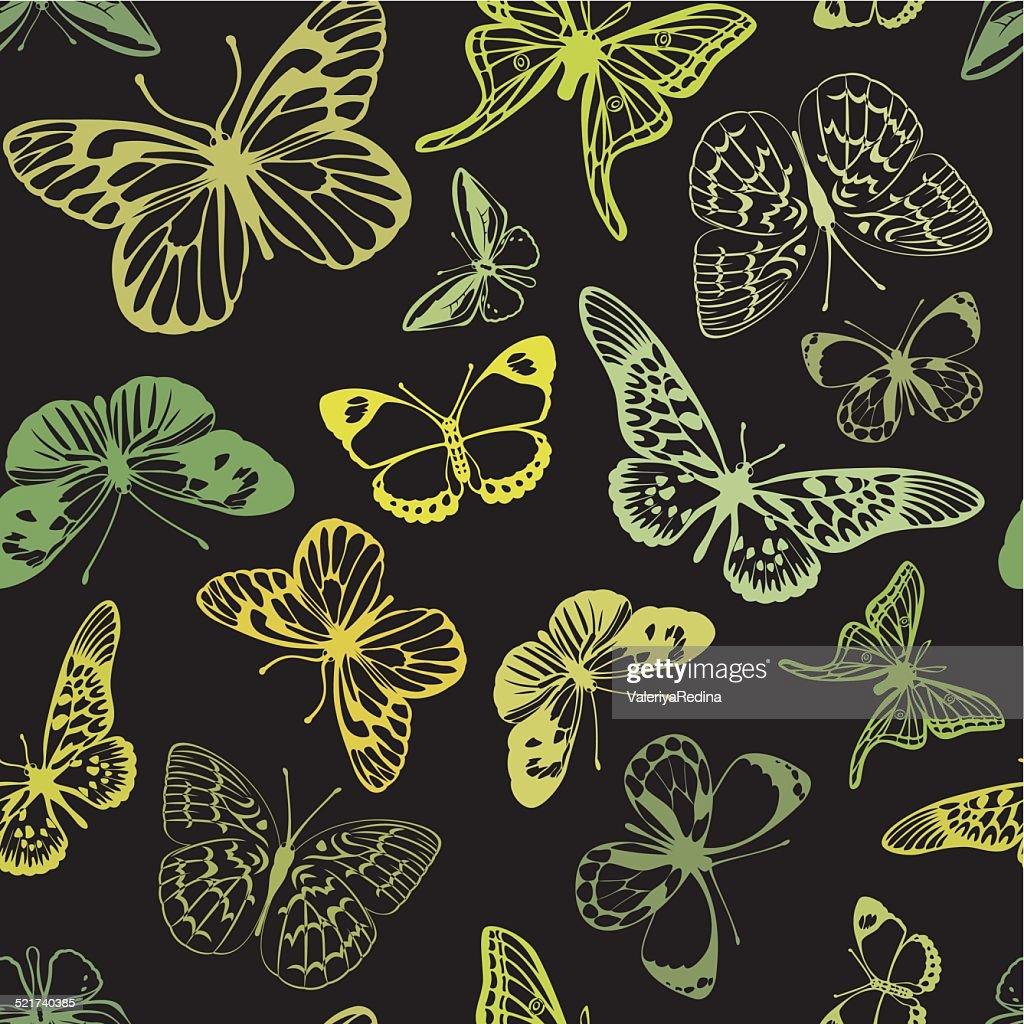 Green  butterflies.