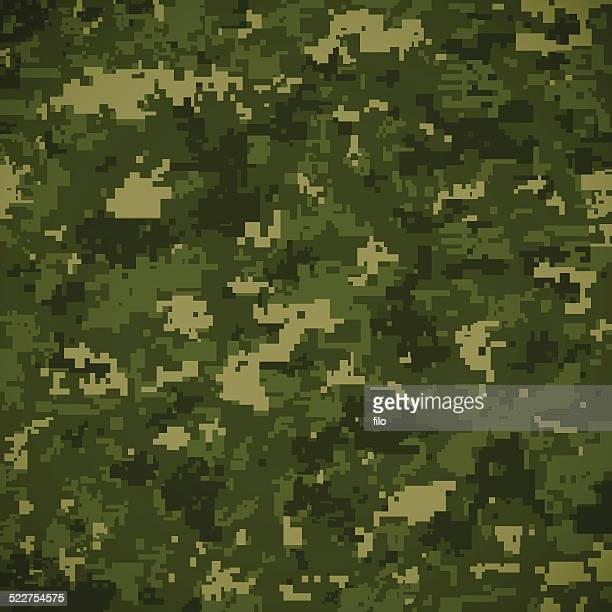 green camoflage pattern - camouflage stock illustrations