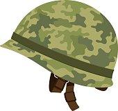 Green Camouflage Military Helmet