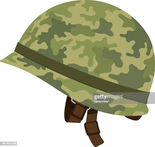 Green Camouflage Military Helmet