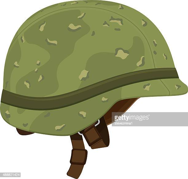green camouflage military helmet - us marine corps stock illustrations, clip art, cartoons, & icons