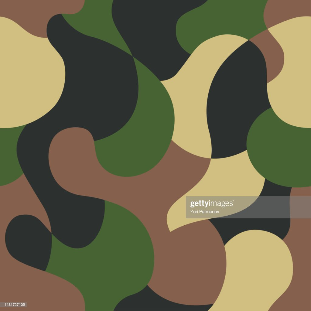 Green camouflage pattern background. Seamless green camouflage. Camo texture
