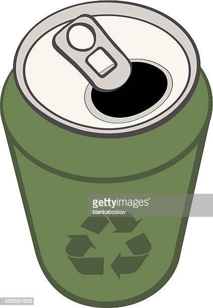 ilustrações, clipart, desenhos animados e ícones de verde pode - drink can