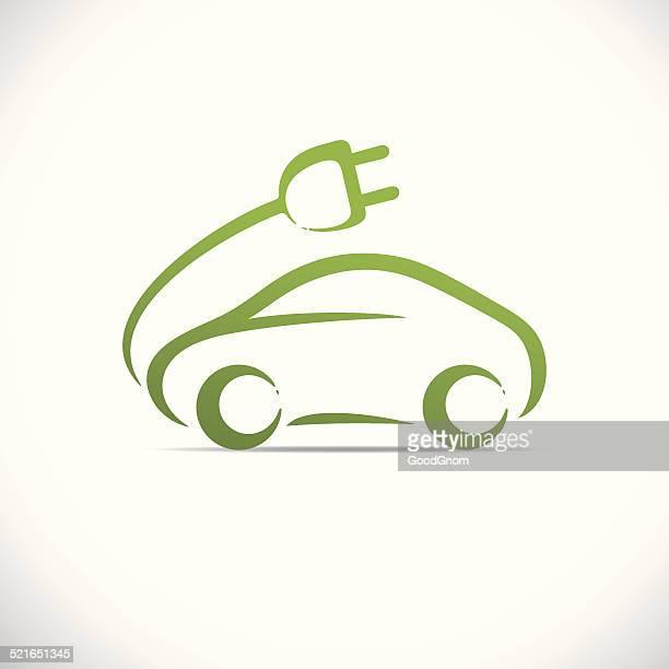 green car - hybrid car stock illustrations, clip art, cartoons, & icons