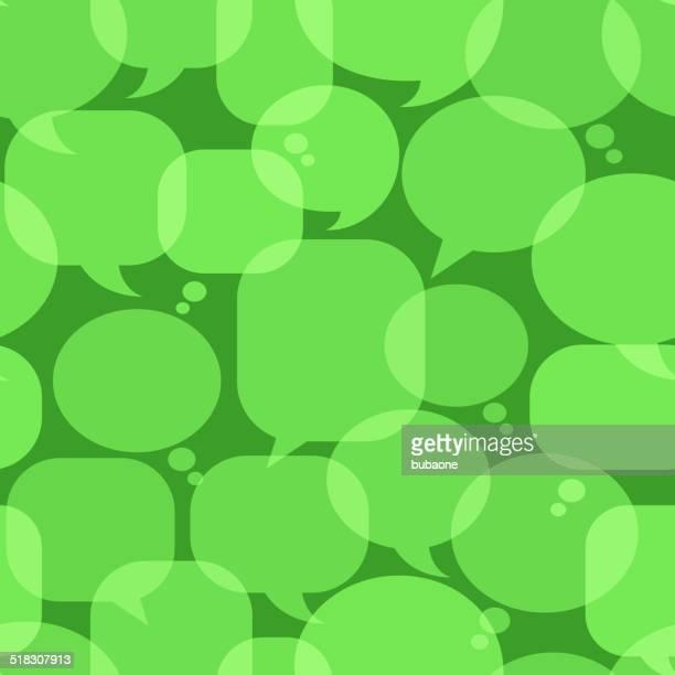 green chat blasen lizenzfreie vektorgrafik muster - sprechblase für internetchat stock-grafiken, -clipart, -cartoons und -symbole