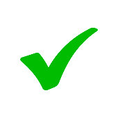 Green checkmark. Vector illustration