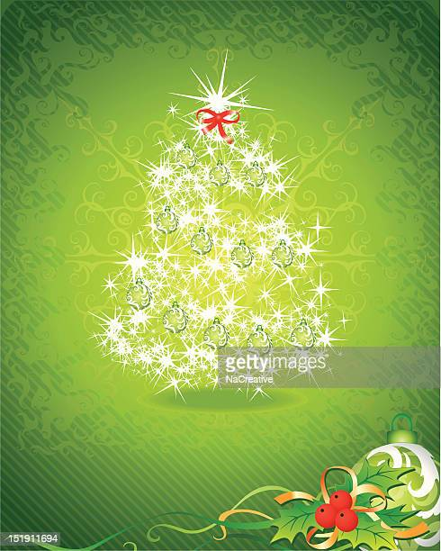 green christmas background - national holiday stock illustrations, clip art, cartoons, & icons