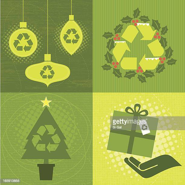 Green Christmas Elements