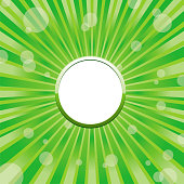 Green circle frame template