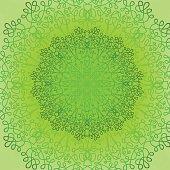 Green Circle Lace Ornament