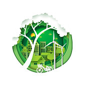 Green city for environment conservation