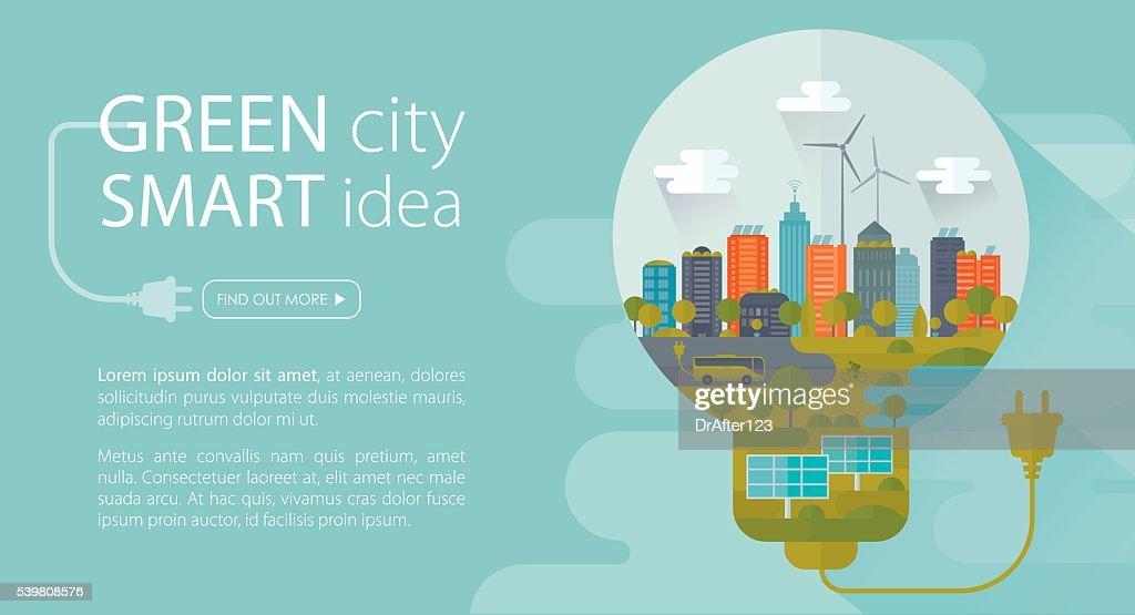 Green City Smart Idea Banner