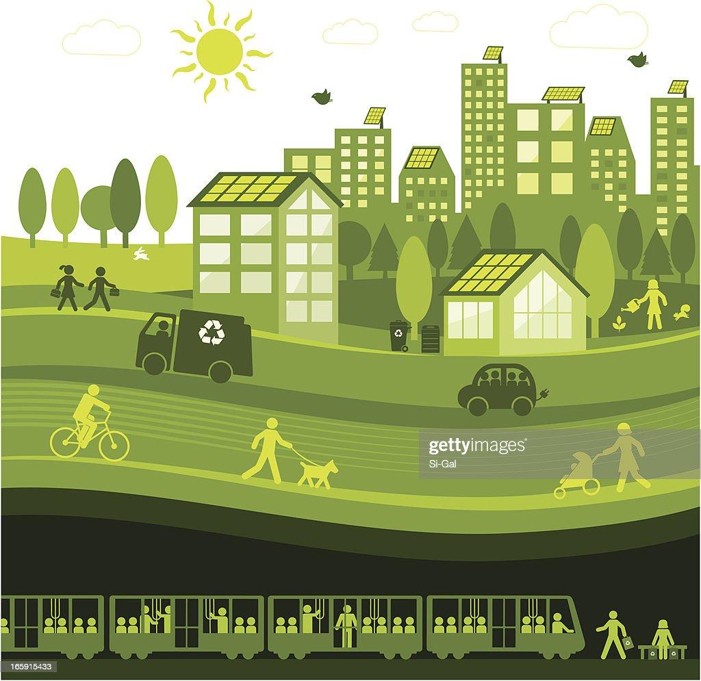 Green City : stock illustration