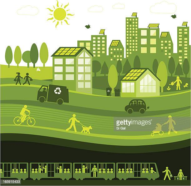 green city - fuel station stock illustrations, clip art, cartoons, & icons