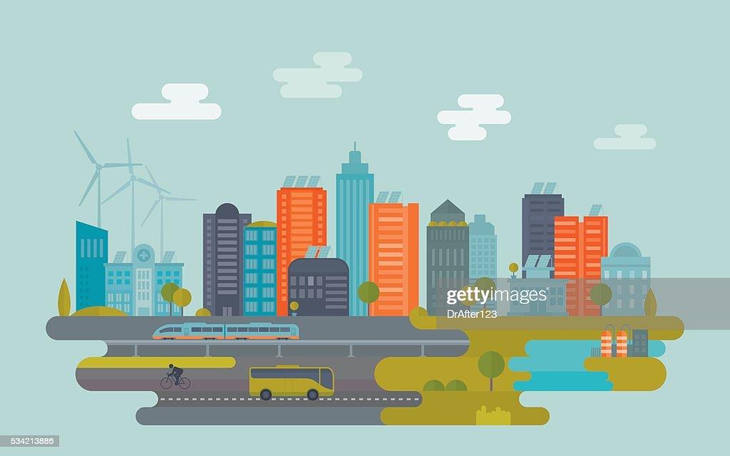 Cidade verde : Ilustração