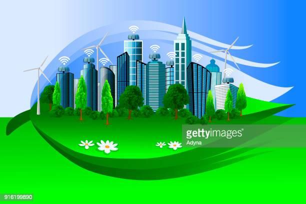 green city - surrounding stock illustrations, clip art, cartoons, & icons