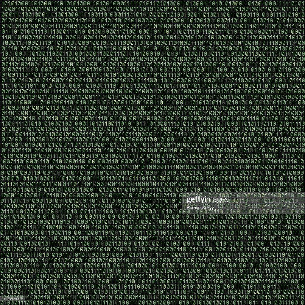 green code background