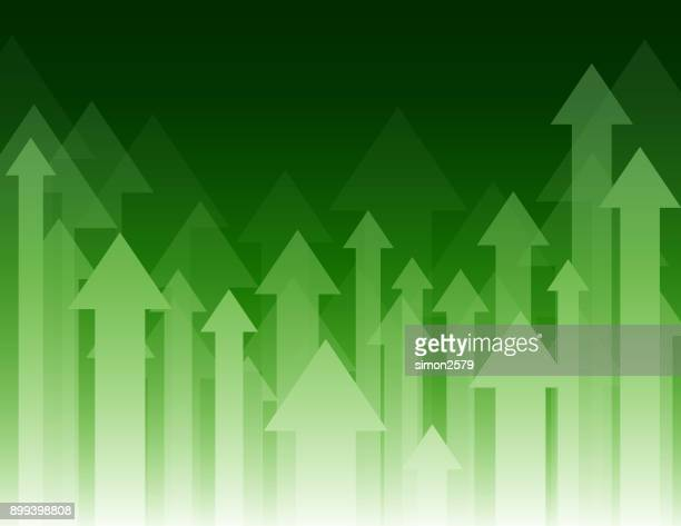green color background with fading white direction arrow pattern - moving up stock illustrations