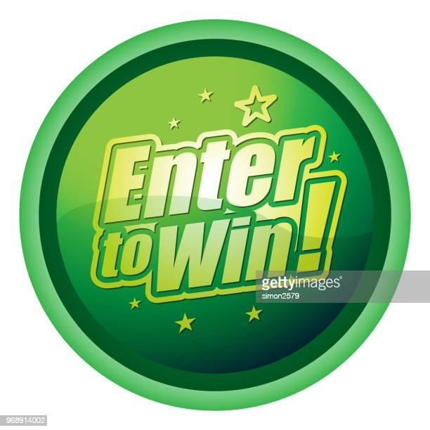 Green color Enter to win Flat Design Icon