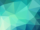 green color geometric mosaic background