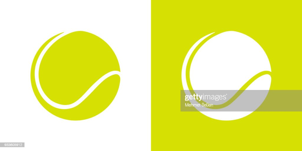 Green color tennis ball graphic