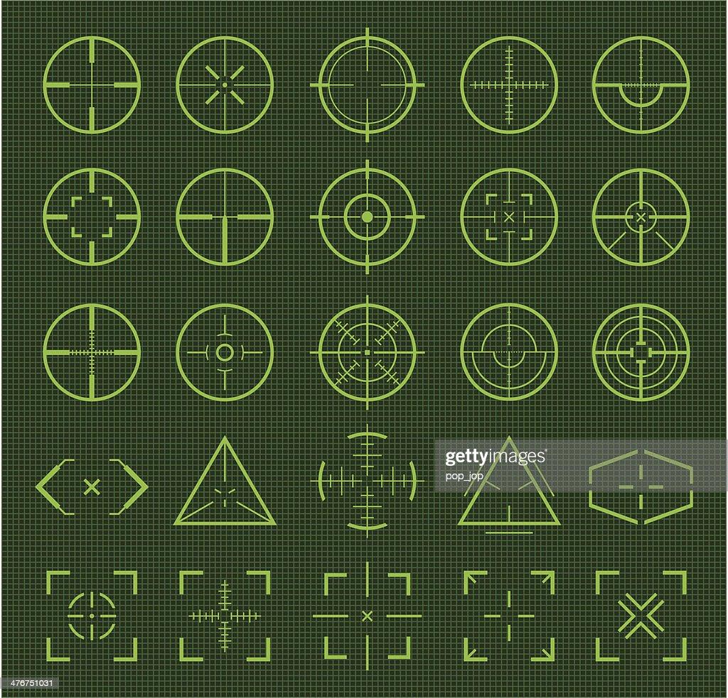 Green crosshairs