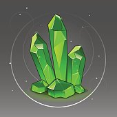 Green crystal set