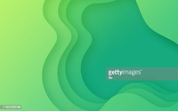 green depth layers - multi layered effect stock illustrations